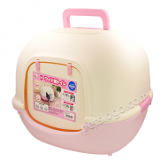 IRIS 可愛粉色封閉式貓廁所 WNT-510 (粉紅色)