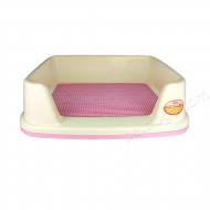 IRIS 半封閉式有格網狗廁所 TRT-650 (L碼 粉紅色)