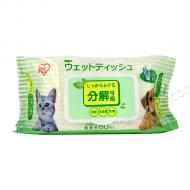 IRIS 寵物用可降解濕紙巾 (80片裝)