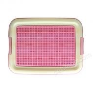 IRIS 平板式有格網狗廁所 TFT-495 (S碼 粉紅色)