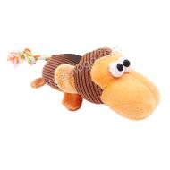 PetBest 燈芯絨寵物玩具 (猴子 棕色)