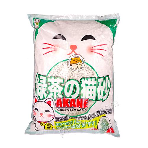 AKANE Green Tea Paper Cat Litter 7L - 寵物足印